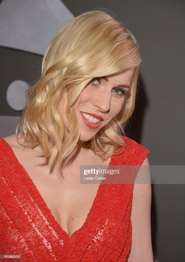 Musician Natasha Bedingfield attends the 55th Annual GRAMMY Awards at STAPLES Center on February 10, 2013 in Los Angeles, California.