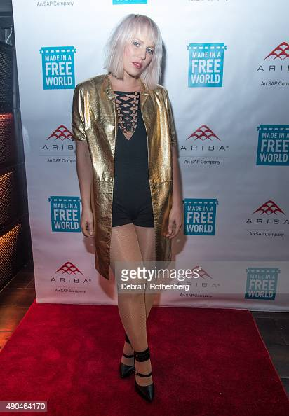 Musician Natasha Bedingfield attends the Rock In A Free World concert at Highline Ballroom on September 28 2015 in New York City