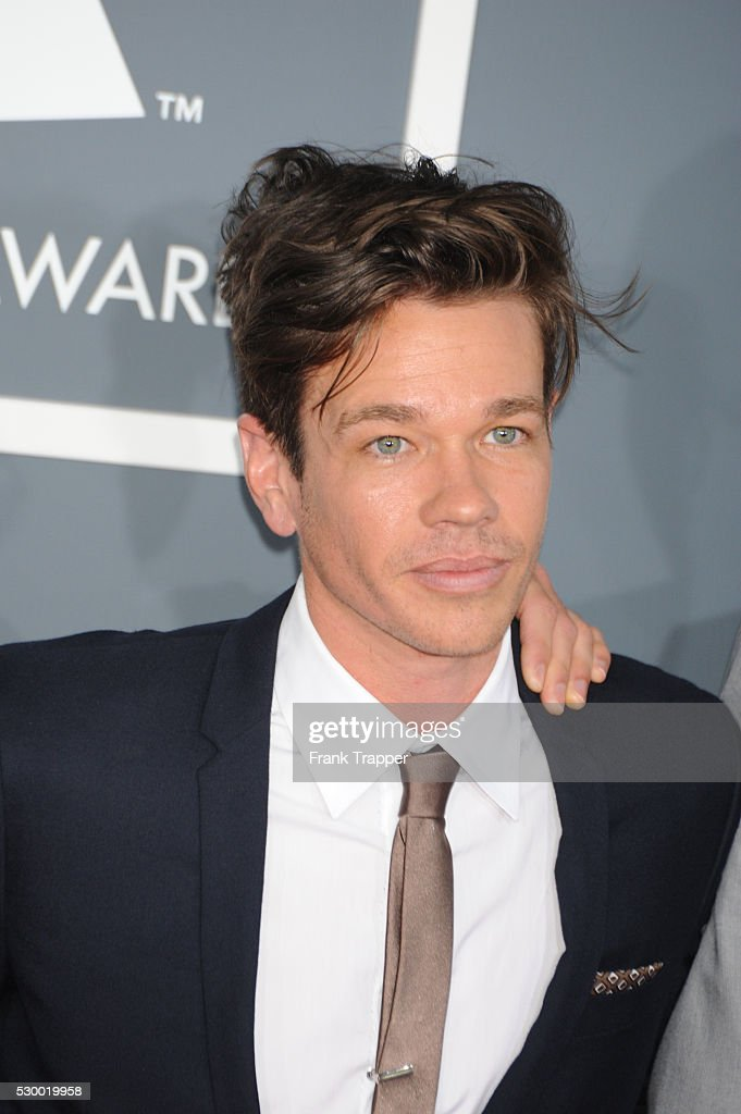 Musician Nate Ruess from the band '<a gi-track='captionPersonalityLinkClicked' href=/galleries/search?phrase=Fun+-+Band&family=editorial&specificpeople=5352698 ng-click='$event.stopPropagation()'>Fun</a> arrives at the 55th Annual Grammy Awards held at the Staples Center in Los Angeles.