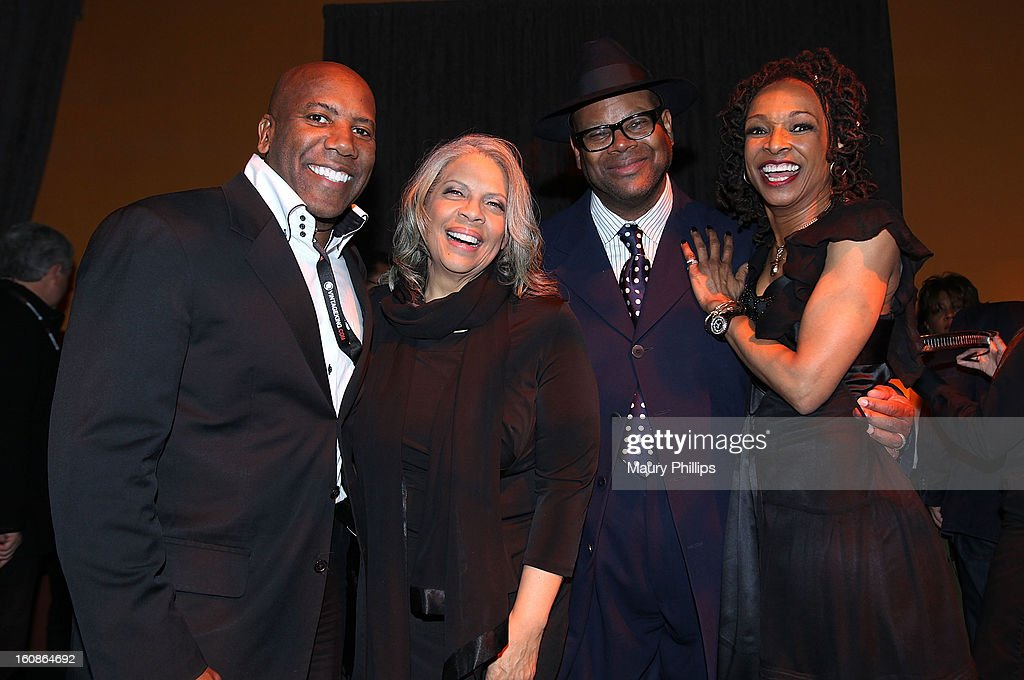 Musician Nathan East, Patti Austin, Jimmy Jam and Siedah Garrett attend The 55th Annual GRAMMY Awards - Producers and Engineers Wing event honoring Quincy Jones And Al Schmitt on February 6, 2013 in Los Angeles, California.