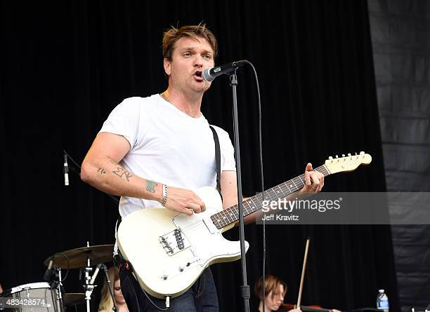 Musician Nathan Willett of Cold War Kids performs at the Lands End Stage during day 2 of the 2015 Outside Lands Music And Arts Festival at Golden...