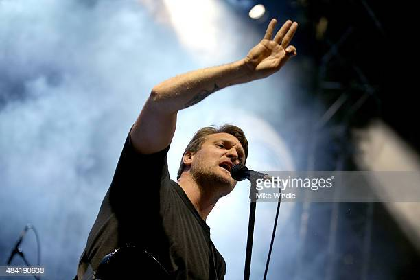 Musician Nathan Willett of Cold War Kids performs onstage during Annenberg Foundation and KCRW's 'Sound In Focus' Concert Series with Cold War Kids...