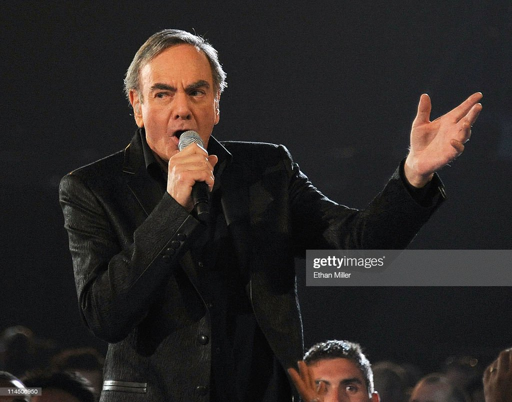 Musician <a gi-track='captionPersonalityLinkClicked' href=/galleries/search?phrase=Neil+Diamond&family=editorial&specificpeople=210635 ng-click='$event.stopPropagation()'>Neil Diamond</a> performs onstage during the 2011 Billboard Music Awards at the MGM Grand Garden Arena May 22, 2011 in Las Vegas, Nevada.
