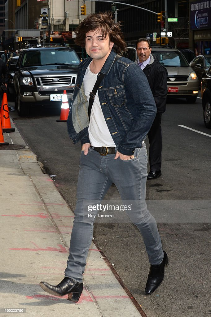 Musician Neil Perry of The Band Perry enters the 'Late Show With David Letterman' taping at the Ed Sullivan Theater on April 1, 2013 in New York City.