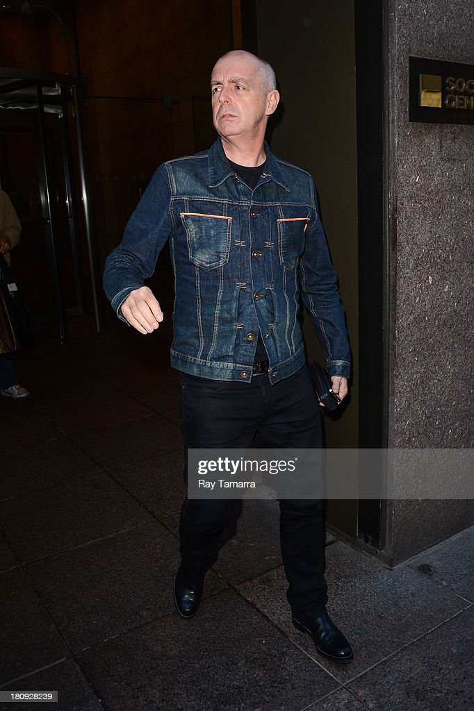 Musician <a gi-track='captionPersonalityLinkClicked' href=/galleries/search?phrase=Neil+Tennant&family=editorial&specificpeople=213865 ng-click='$event.stopPropagation()'>Neil Tennant</a> leaves the Sirius XM Studios on September 17, 2013 in New York City.
