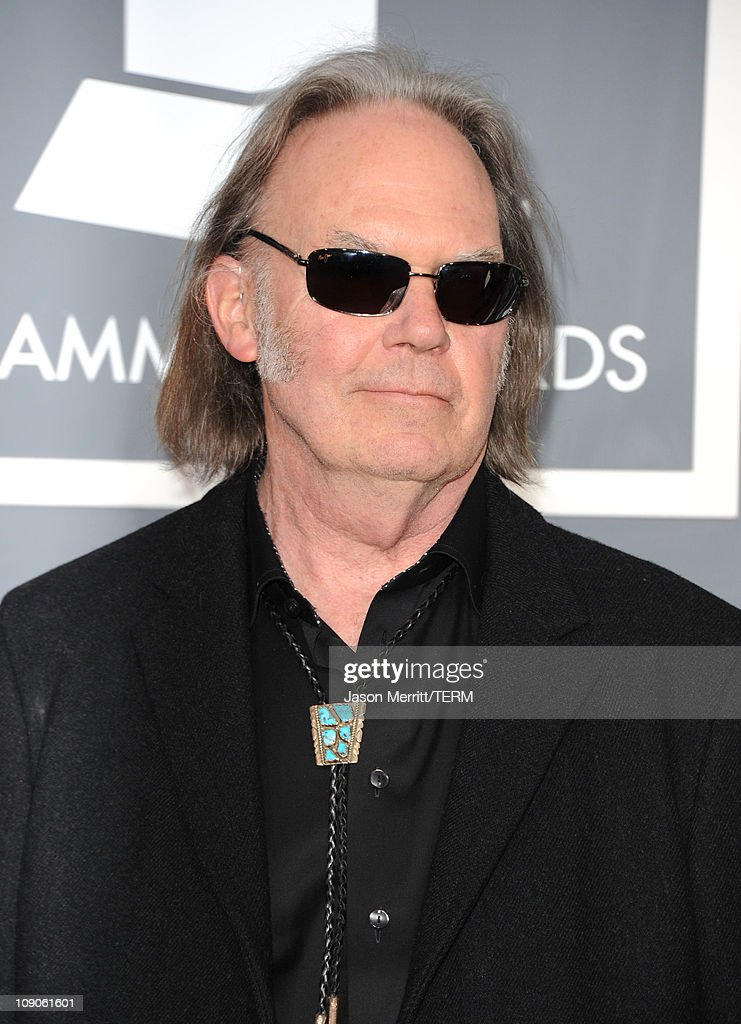Musician Neil Young arrives at The 53rd Annual GRAMMY Awards held at Staples Center on February 13, 2011 in Los Angeles, California.