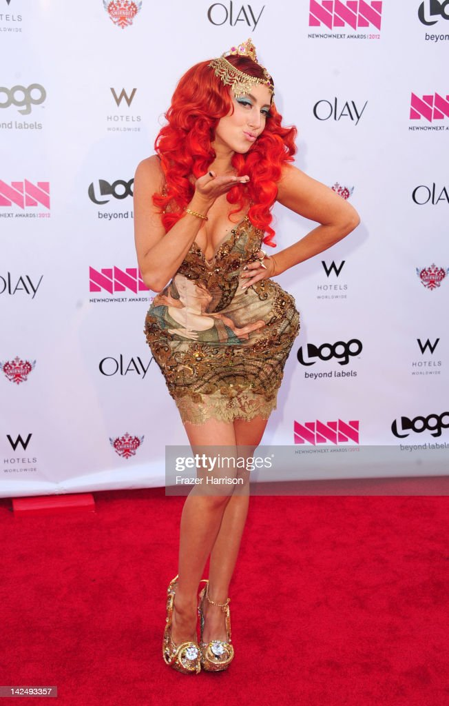 Musician Neon Hitch attends Logo's 'NewNowNext Awards' 2012 at Avalon on April 5, 2012 in Hollywood, California.