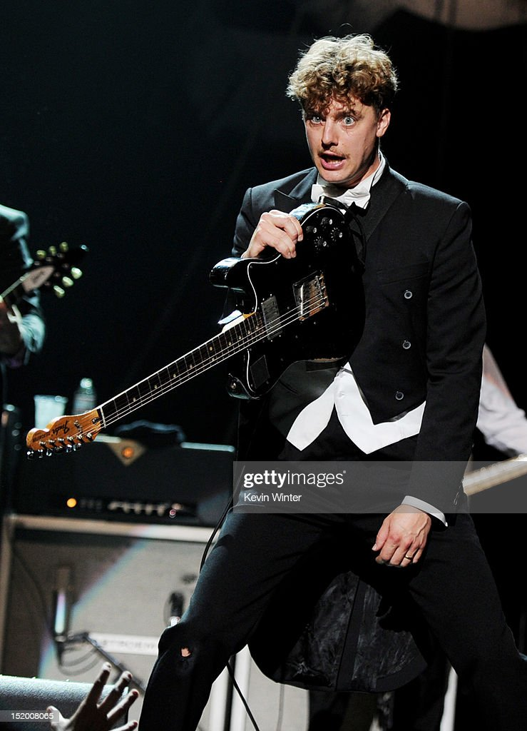 Musician Nicholaus Arson of The Hives performs at the Wiltern Theater on September 14, 2012 in Los Angeles, California.