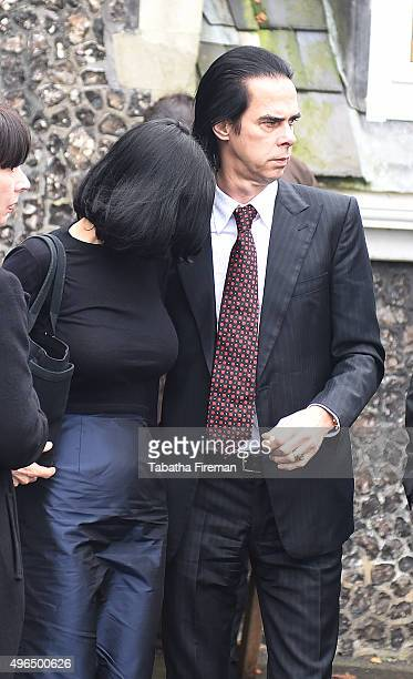 Musician Nick Cave and Susie Bick attend the inquest into his son's death at Brighton Coroner's Court on November 10 2015 in Brighton England Arthur...