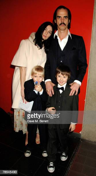 Musician Nick Cave and Susie Bick with sons Arthur and Earl attend the gala screening of the 'Doctor Who' Christmas episode at the Science Museum...