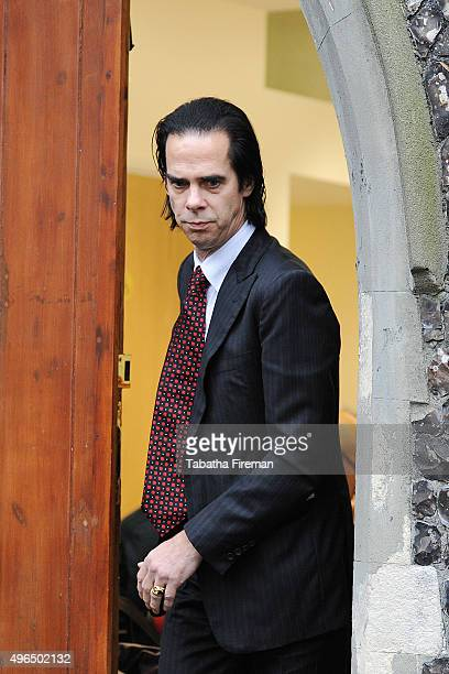 Musician Nick Cave attends the inquest into his son's death at Brighton Coroner's Court on November 10 2015 in Brighton England Arthur Cave aged 15...