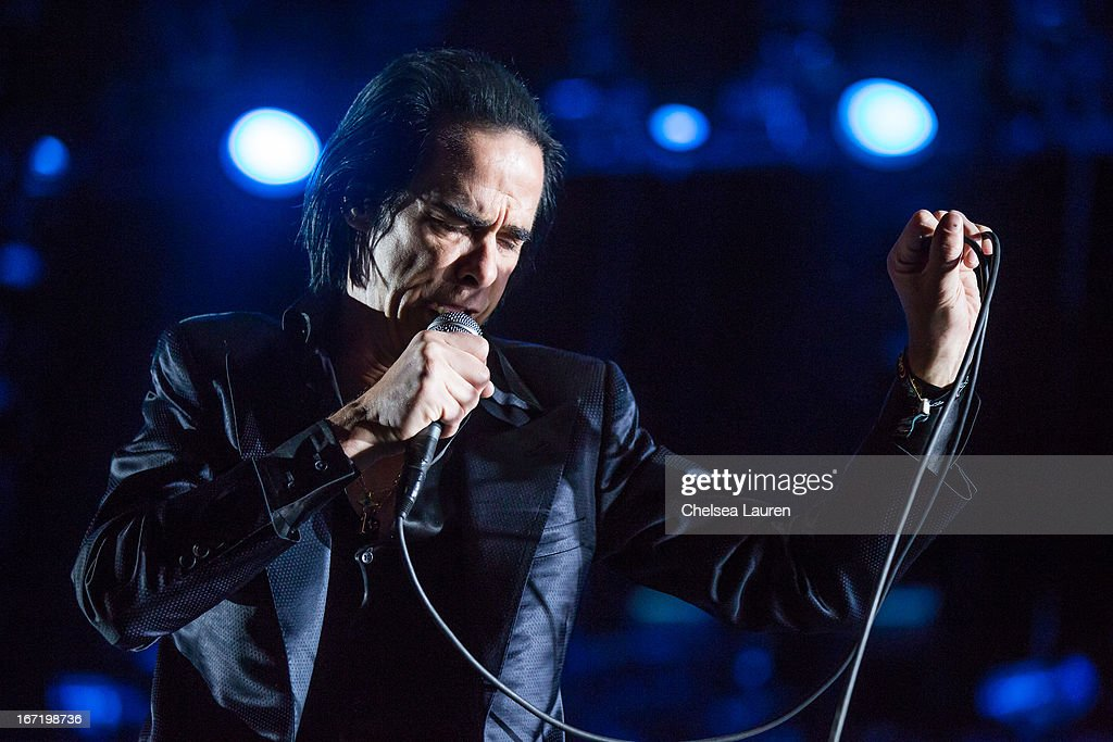 Musician Nick Cave of Nick Cave and the Bad Seeds performs during the Coachella Valley Music & Arts Festival at The Empire Polo Club on April 21, 2013 in Indio, California.