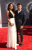 Musician Nick Jonas and Olivia Culpo attend the 2014 MTV Video Music Awards at The Forum on August 24 2014 in Inglewood California