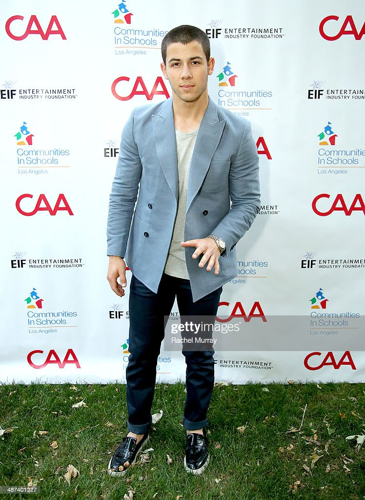 Musician <a gi-track='captionPersonalityLinkClicked' href=/galleries/search?phrase=Nick+Jonas&family=editorial&specificpeople=842713 ng-click='$event.stopPropagation()'>Nick Jonas</a> attends Communities In Schools Of Los Angeles Gala 2014, Presented By CAA And EIF on April 29, 2014 in Los Angeles, California.