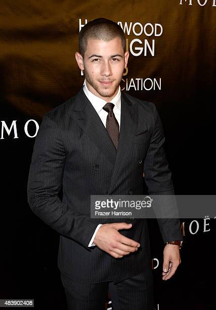 Musician Nick Jonas attends HFPA Annual Grants Banquet at the Beverly Wilshire Four Seasons Hotel on August 13 2015 in Beverly Hills California