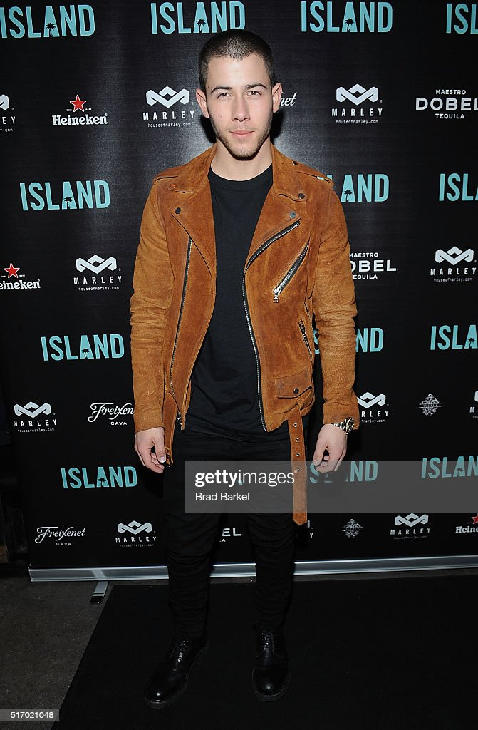 Musician <a gi-track='captionPersonalityLinkClicked' href=/galleries/search?phrase=Nick+Jonas&family=editorial&specificpeople=842713 ng-click='$event.stopPropagation()'>Nick Jonas</a> attends Island Records' 'Island Life' Second Anniversary Party At Avenue NYC at Avenue on March 22, 2016 in New York City.