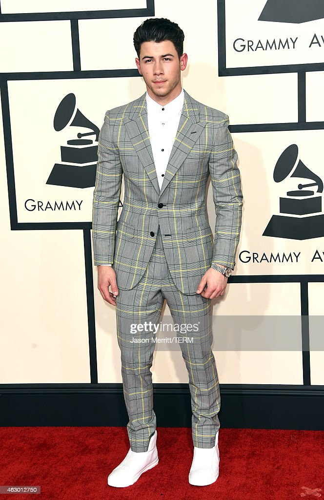 Musician <a gi-track='captionPersonalityLinkClicked' href=/galleries/search?phrase=Nick+Jonas&family=editorial&specificpeople=842713 ng-click='$event.stopPropagation()'>Nick Jonas</a> attends The 57th Annual GRAMMY Awards at the STAPLES Center on February 8, 2015 in Los Angeles, California.