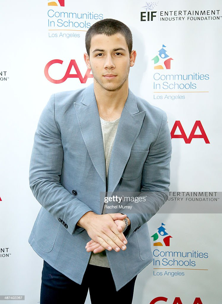 Musician Nick Jonas attends the Communities In Schools Of Los Angeles Gala 2014, Presented By CAA And EIF on April 29, 2014 in Los Angeles, California.