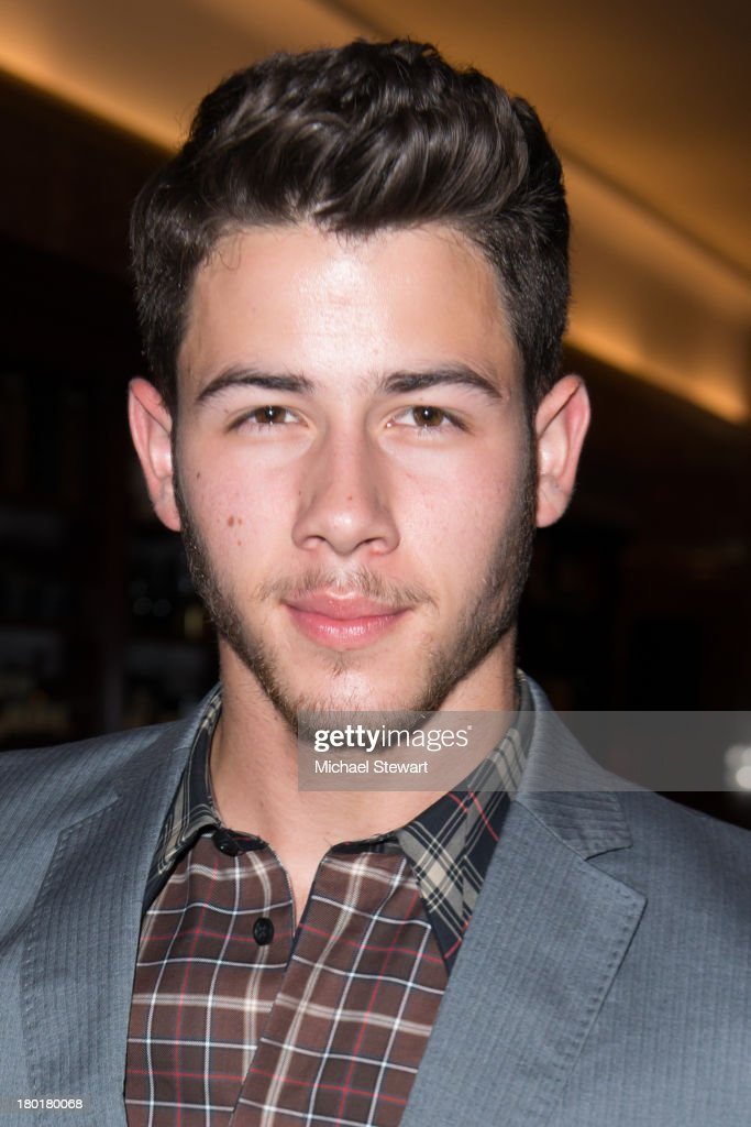 Musician <a gi-track='captionPersonalityLinkClicked' href=/galleries/search?phrase=Nick+Jonas&family=editorial&specificpeople=842713 ng-click='$event.stopPropagation()'>Nick Jonas</a> attends the Evening By Sherri Hill Spring 2014 show at Trump Tower on September 9, 2013 in New York City.
