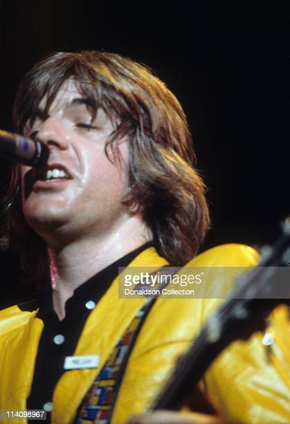 Musician Nick Lowe plays for a portrait in 1979 in Los Angeles California