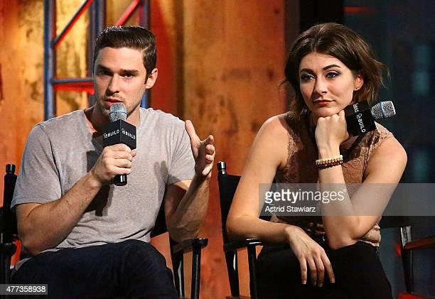 Musician Nick Noonan and singer Amy Heidemann of Karmin attend AOL BUILD Speaker Series Karmin at AOL Studios In New York on June 16 2015 in New York...