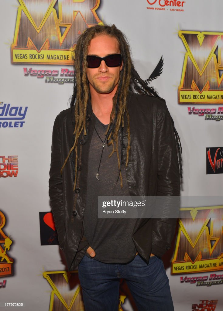 Musician Nick Oshiro arrives at the Vegas Rocks! Magazine Music Awards 2013 at the Joint inside the Hard Rock Hotel & Casino on August 25, 2013 in Las Vegas, Nevada.