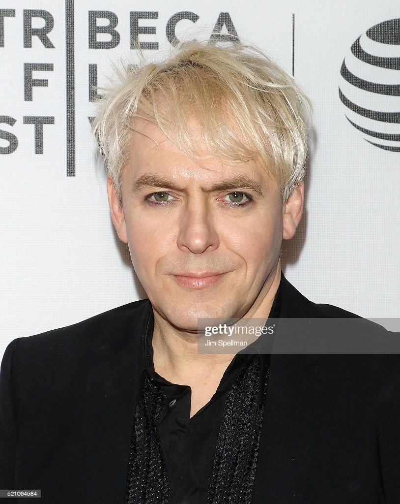 Musician Nick Rhodes attends the 2016 Tribeca Film Festival opening night world premiere of 'The First Monday In May' at John Zuccotti Theater at BMCC Tribeca Performing Arts Center on April 13, 2016 in New York City.