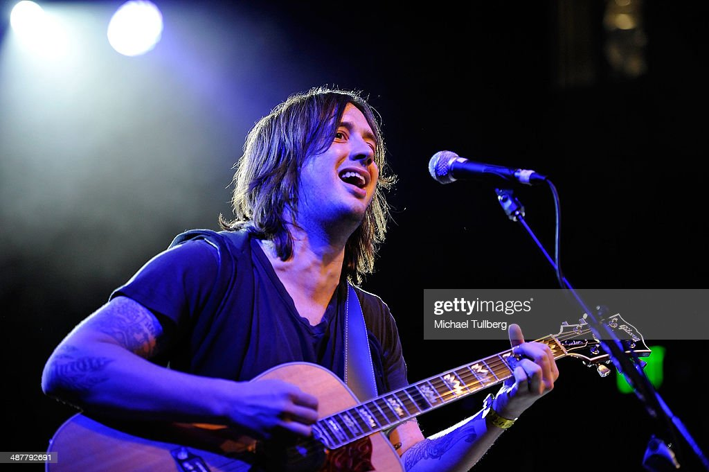 Musician <a gi-track='captionPersonalityLinkClicked' href=/galleries/search?phrase=Nick+Wheeler&family=editorial&specificpeople=538413 ng-click='$event.stopPropagation()'>Nick Wheeler</a> of the All American Rejects performs at the Lyme Light Benefit Concert at El Rey Theatre on May 1, 2014 in Los Angeles, California.