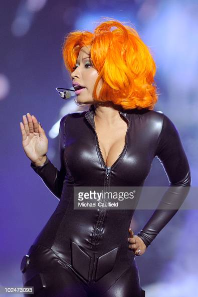 Musician Nicki Minaj onstage during the 2010 BET Awards held at the Shrine Auditorium on June 27 2010 in Los Angeles California