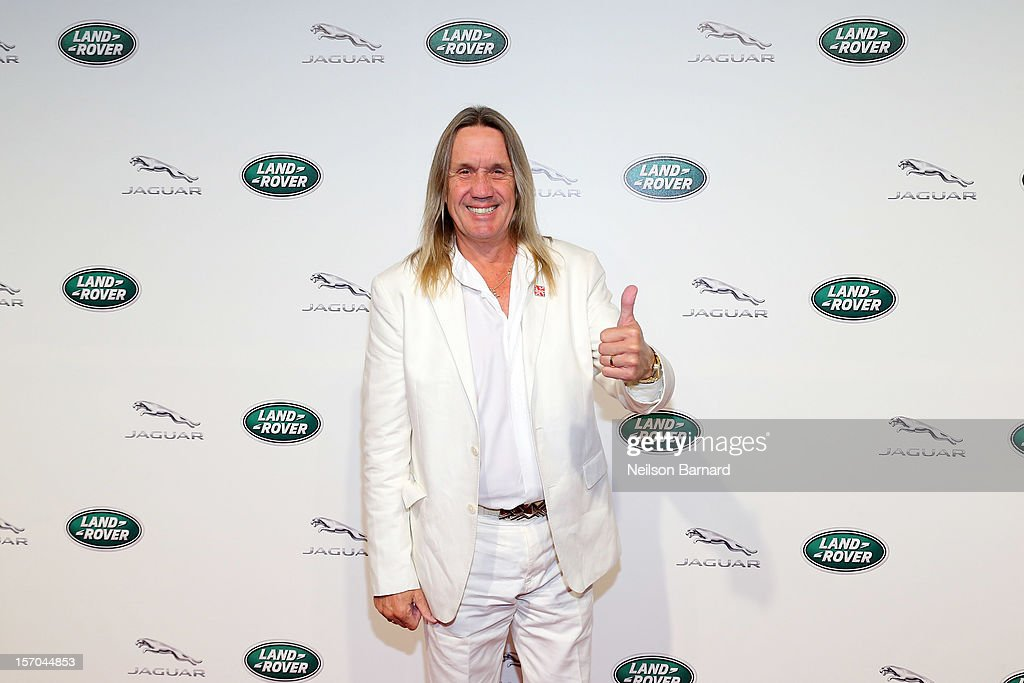 Musician <a gi-track='captionPersonalityLinkClicked' href=/galleries/search?phrase=Nicko+McBrain&family=editorial&specificpeople=2035333 ng-click='$event.stopPropagation()'>Nicko McBrain</a> of Iron Maiden attends Jaguar Land Rover's exclusive event to launch Jaguar's two-seat sports car, the 2014 F-TYPE and the all-new Range Rover, the world's first all-aluminum SUV held at Paramount Pictures Studios on November 27, 2012 in Los Angeles, California.