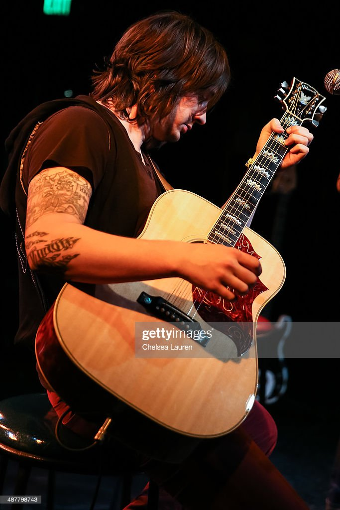 Musician Nickolas Von Wheeler of The All-American Rejects performs at Lyme Light: the concert benefiting the tick-borne disease alliance at El Rey Theatre on May 1, 2014 in Los Angeles, California.