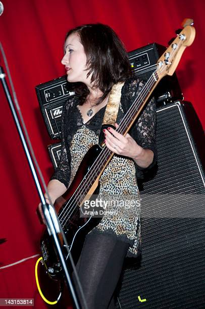 Musician Nicole Fiorentino performs at the special early screening of 'Hit So Hard' and intheatre musical performance at the Vista Theatre on April...