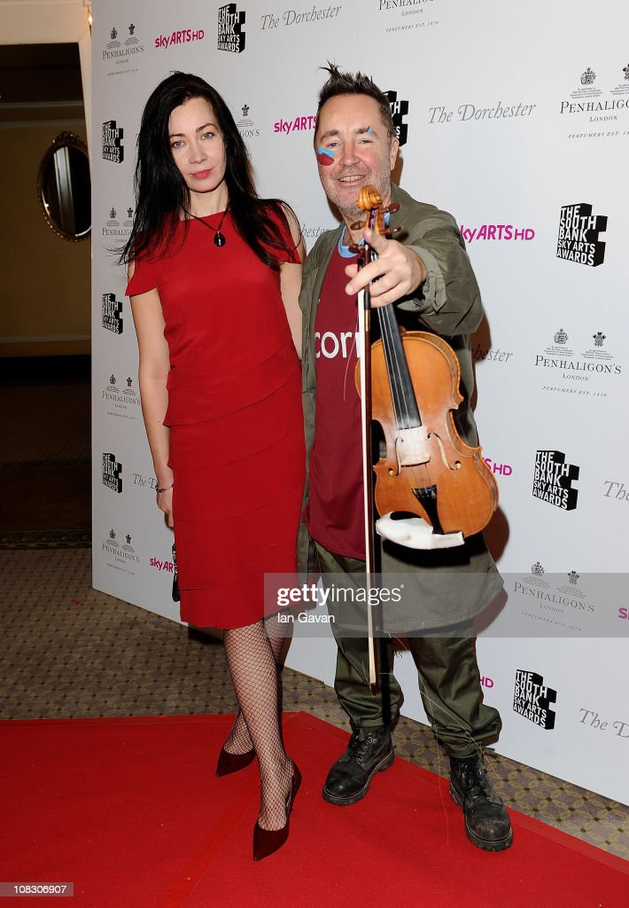 Musician Nigel Kennedy (R) attends the South Bank Sky Arts Awards at The Dorchester on January 25, 2011 in London, England.