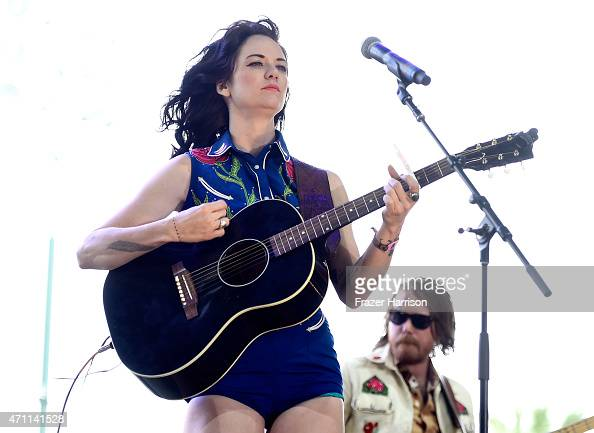 Musician Nikki Lane performs onstage during day two of 2015 Stagecoach California's Country Music Festival at The Empire Polo Club on April 25 2015...