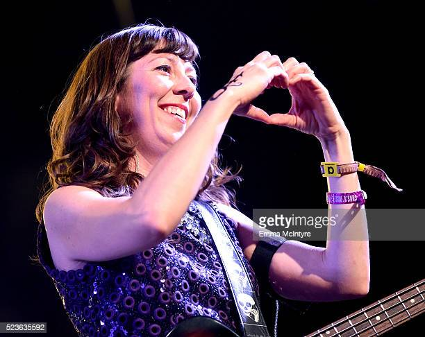 Musician Nikki Monninger of Silversun Pickups performs onstage during day 2 of the 2016 Coachella Valley Music Arts Festival Weekend 2 at the Empire...