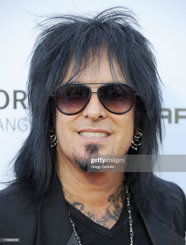 Musician <a gi-track='captionPersonalityLinkClicked' href=/galleries/search?phrase=Nikki+Sixx&family=editorial&specificpeople=213311 ng-click='$event.stopPropagation()'>Nikki Sixx</a> arrives at the Leica Store Los Angeles grand opening at Leica on June 20, 2013 in Los Angeles, California.
