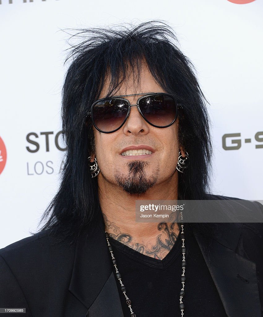 Musician <a gi-track='captionPersonalityLinkClicked' href=/galleries/search?phrase=Nikki+Sixx&family=editorial&specificpeople=213311 ng-click='$event.stopPropagation()'>Nikki Sixx</a> attends the Leica Store Los Angeles grand opening on June 20, 2013 in Los Angeles, California.
