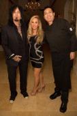 Musician Nikki Sixx TV personality Adrienne Maloof and chef Bernie Guzman attend Nikki Sixx and Courtney Bingham's prewedding bash on March 1 2014 in...
