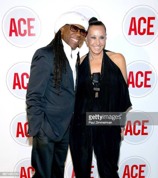 Musician Nile Rodgers and designer Donna Karan attend the 2017 ACE Gala at Capitale on May 23 2017 in New York City
