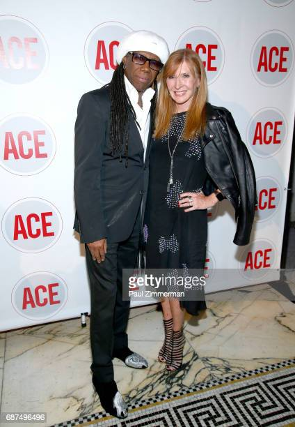 Musician Nile Rodgers and designer Nicole Miller attend the 2017 ACE Gala at Capitale on May 23 2017 in New York City