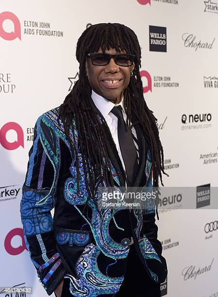 Musician Nile Rodgers attends the 23rd Annual Elton John AIDS Foundation Academy Awards viewing party with Chopard on February 22 2015 in Los Angeles...