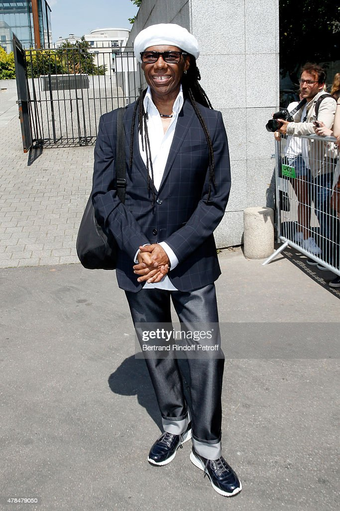 Musician Nile Rodgers attends the Louis Vuitton Menswear Spring/Summer 2016 show as part of Paris Fashion Week on June 25, 2015 in Paris, France.