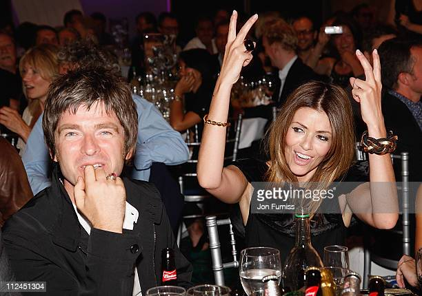 Musician Noel Gallagher and Sara MacDonald during the O2 Silver Clef Awards held at the Park Lane Hilton Hotel on July 4 2008 in London England