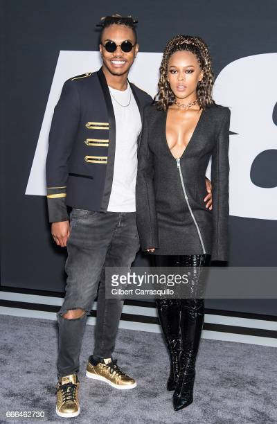 Musician Ohana Bam and actress Serayah McNeill attend 'The Fate Of The Furious' New York Premiere at Radio City Music Hall on April 8 2017 in New...