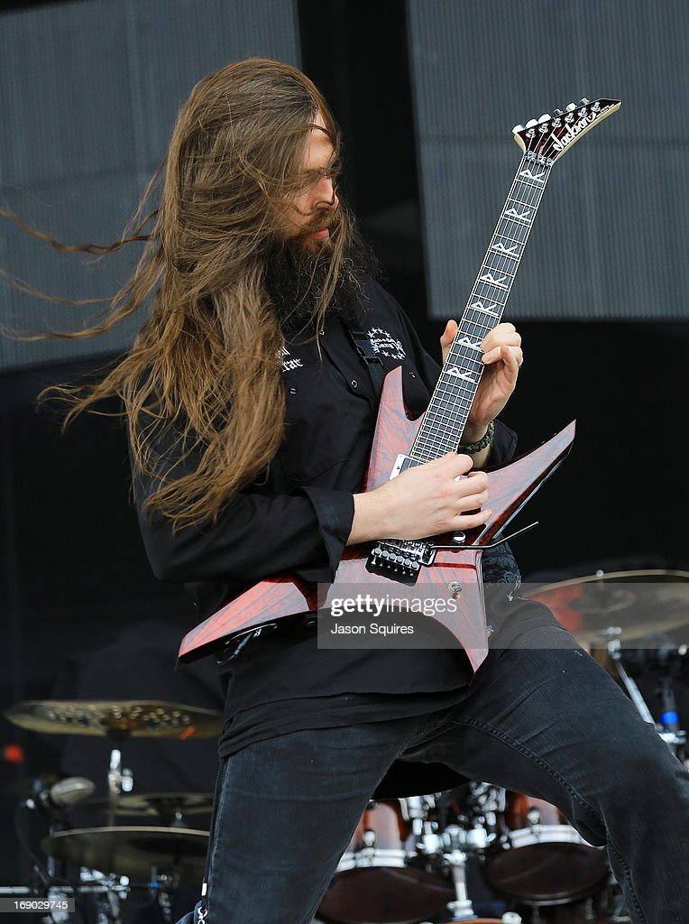 Musician Oli Herbert of All That Remains performs during 2013 Rock On The Range at Columbus Crew Stadium on May 18, 2013 in Columbus, Ohio.