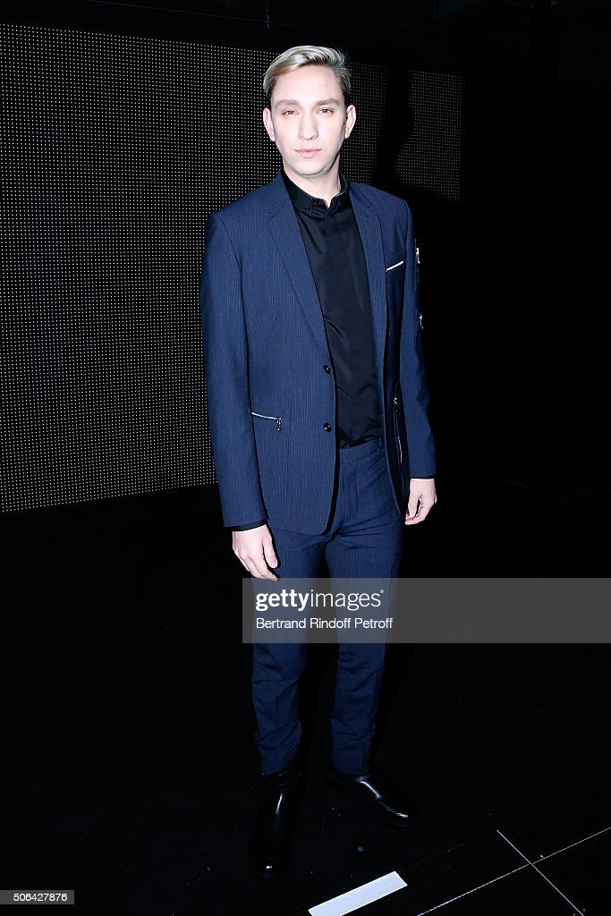 Musician Oliver Sim attends the Dior Homme Menswear Fall/Winter 20162017 show as part of Paris Fashion Week on January 23 2016 in Paris France