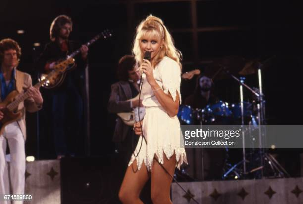 Musician Olivia NewtonJohn performs on the 'Hollywood Nights' TV special in March 1980 in Los Angeles California