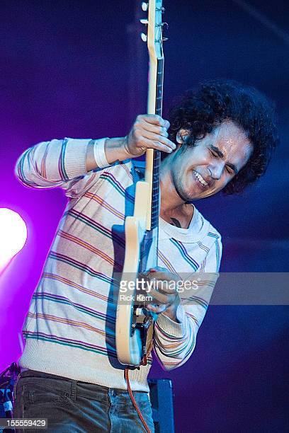 Musician Omar RodriguezLopez performs in concert during day three of Fun Fun Fun Fest at Auditorium Shores on November 4 2012 in Austin Texas