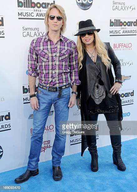 Musician Orianthi and guest arrive at the 2013 Billboard Music Awards at MGM Grand Garden Arena on May 19 2013 in Las Vegas Nevada