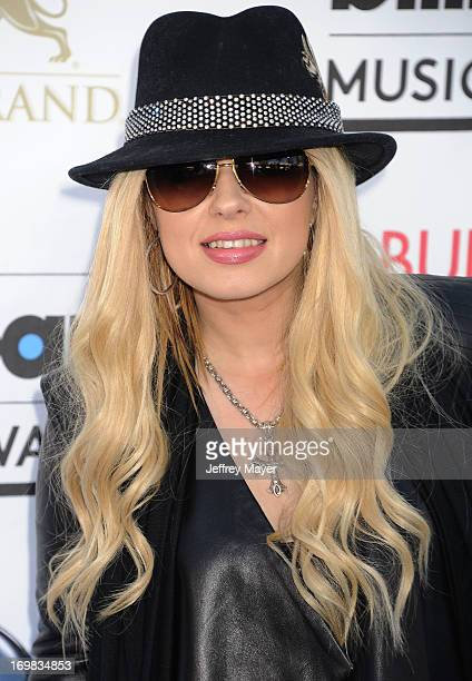 Musician Orianthi arrives at the 2013 Billboard Music Awards at the MGM Grand Garden Arena on May 19 2013 in Las Vegas Nevada